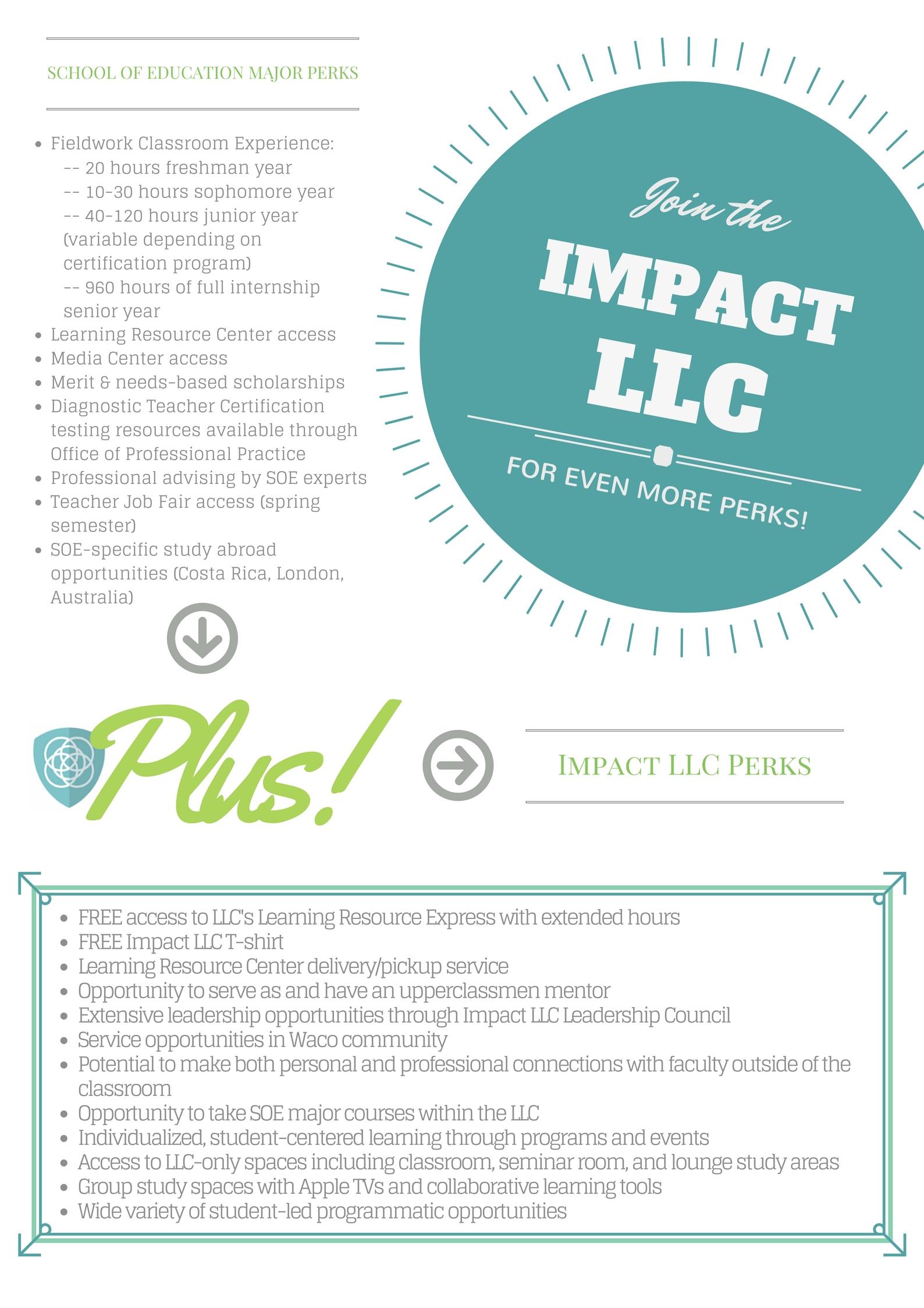 LLC Perks for SOE Majors   Impact Living-Learning Center   Baylor