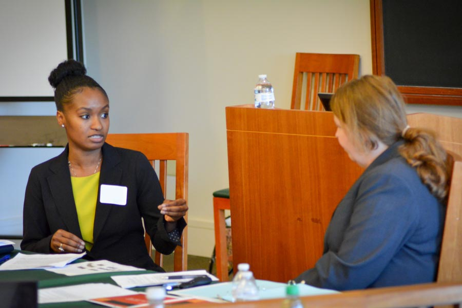 Law students engage in mock negotiation