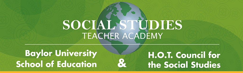 Graphic header: Social Studies Teacher Academy