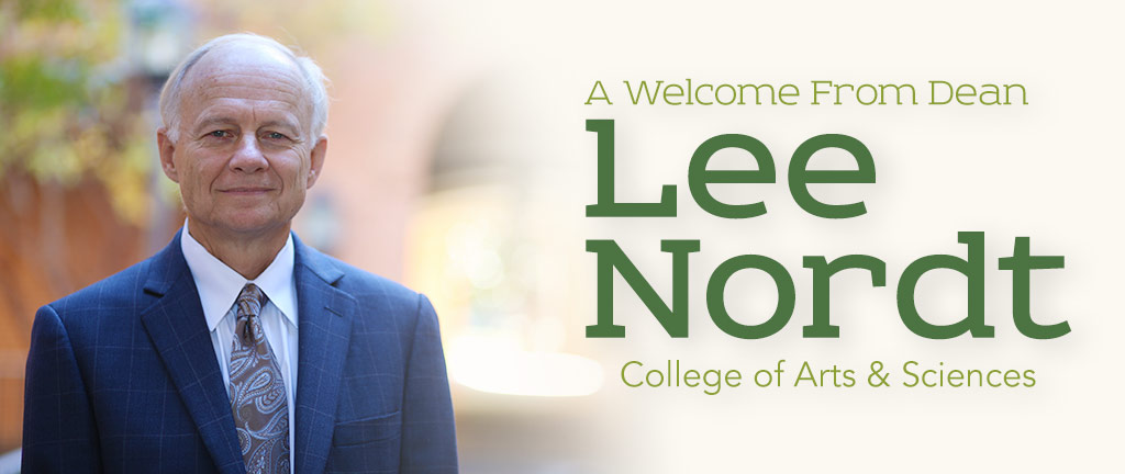 Welcome from Dean Nordt