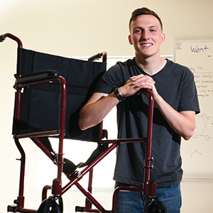 Kyle Keiser, a mechanical engineering major