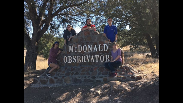 Baylor Physics Department Sends First Group of Students to McDonald Observatory