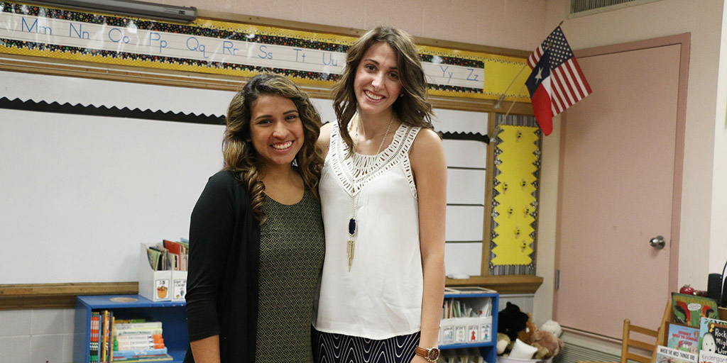 Emily Draper with Esther Navarrete