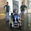 KXXV-TV: Baylor engineering students create motorized chair to help toddler