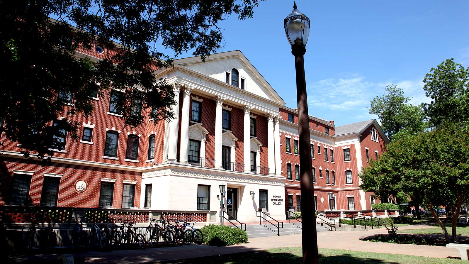 Alexander Hall was opened on September 13, 1940, and currently provides housing for the Honors Residential College.