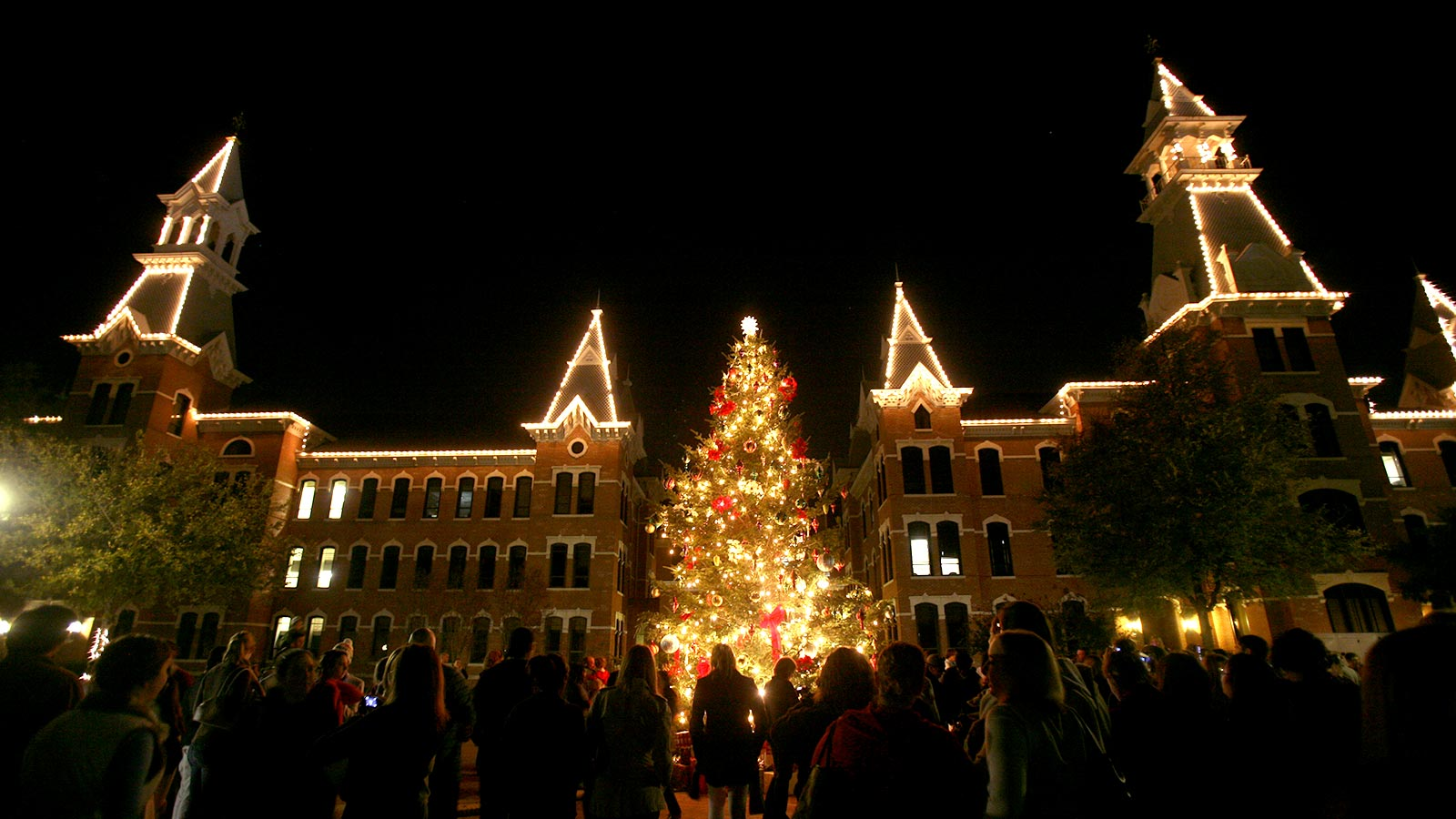 The annual tree lighting ceremony is one the central events of the Christmas season at Baylor.