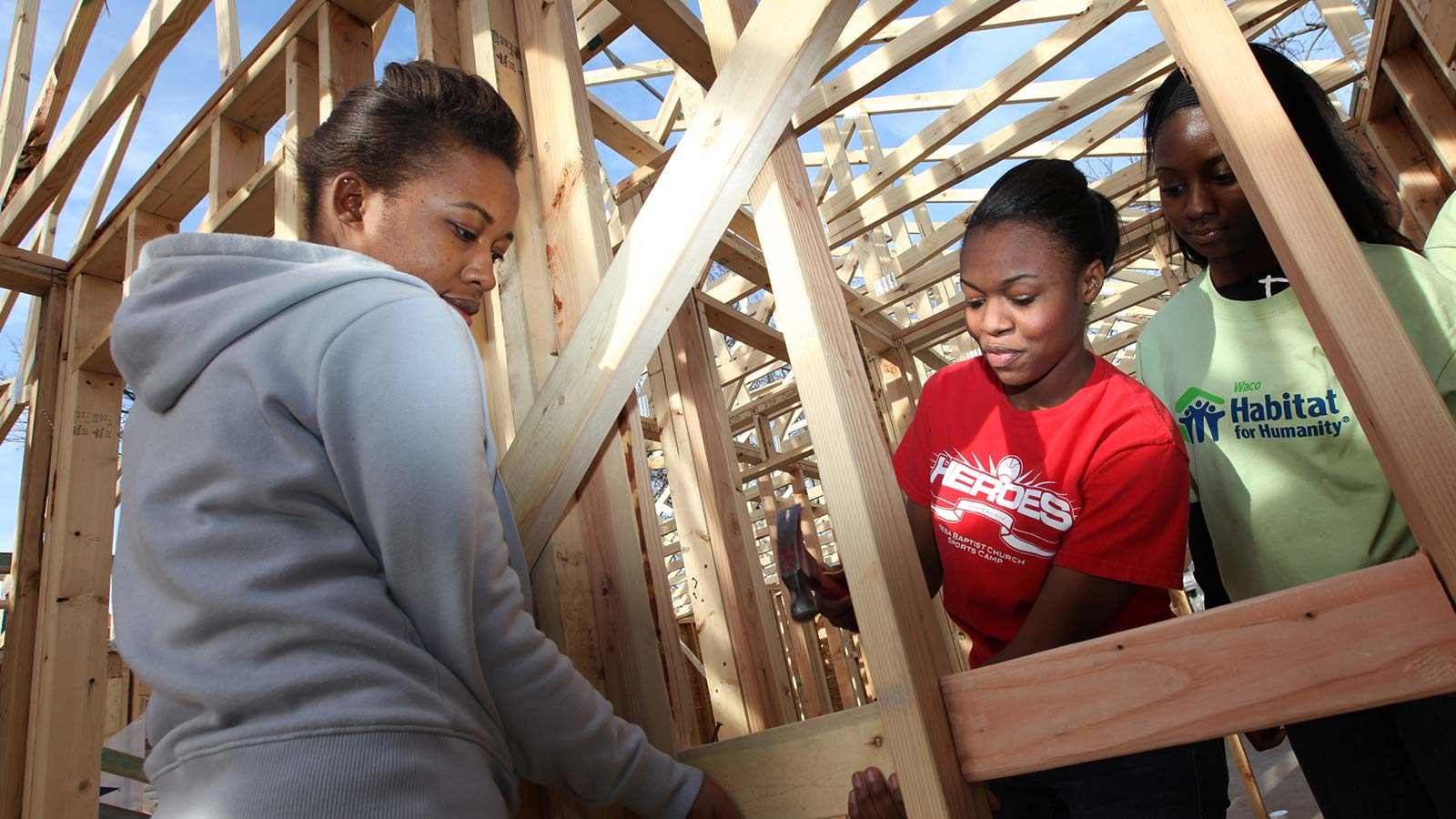 Baylor's Habitat for Humanity chapter was the first collegiate chapter in the country, and it has remained an excellent opportunity for students to reach out and help the local community.
