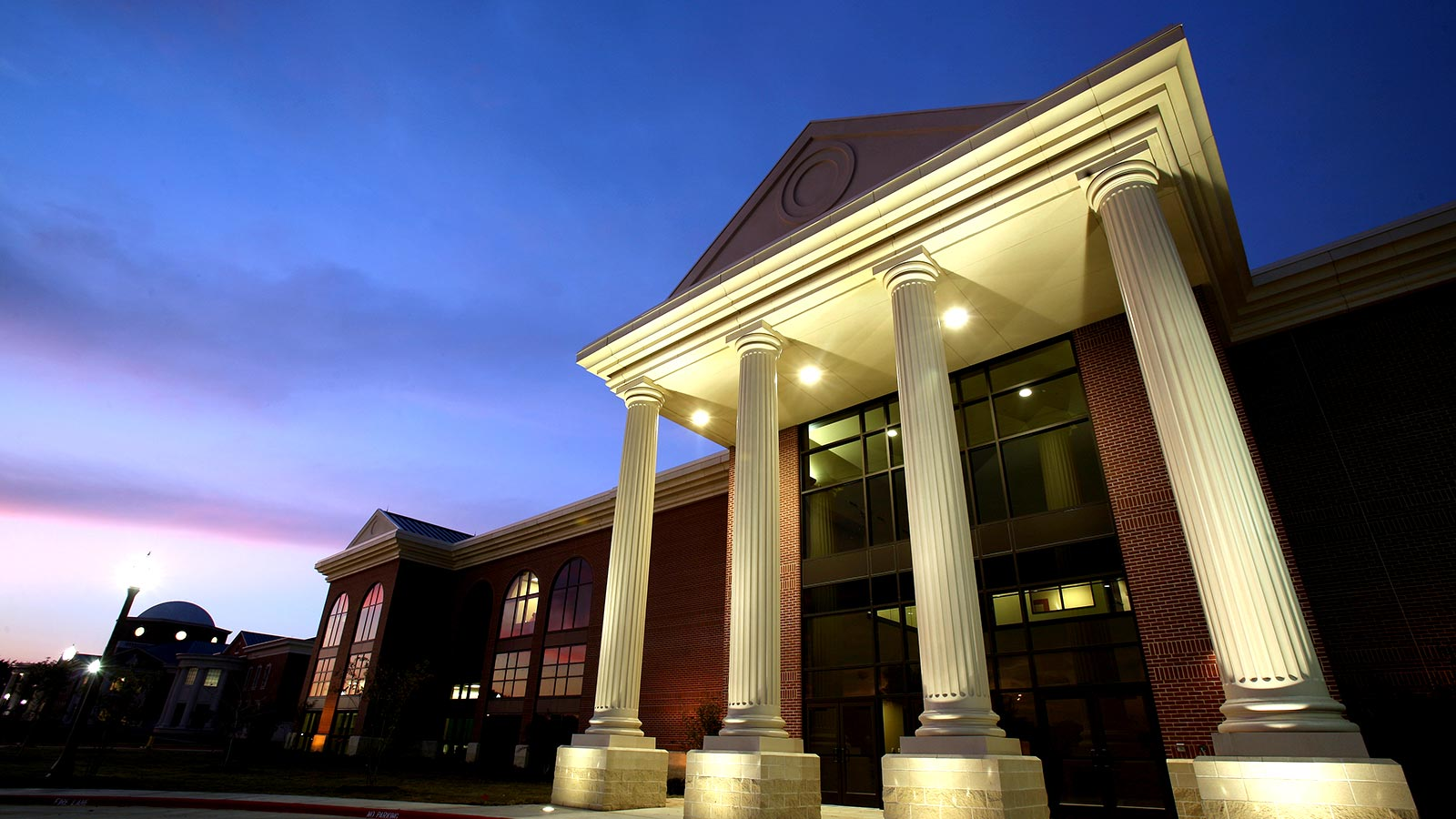 The Simpson Athletics and Academic Center is the centerpiece of the Highers Athletics Complex at Baylor University.