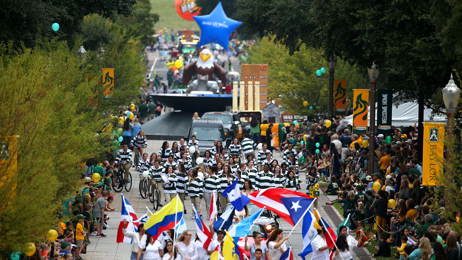 Since Nov. 24, 1909, the Baylor Homecoming parade has been a first-class extravaganza of color.