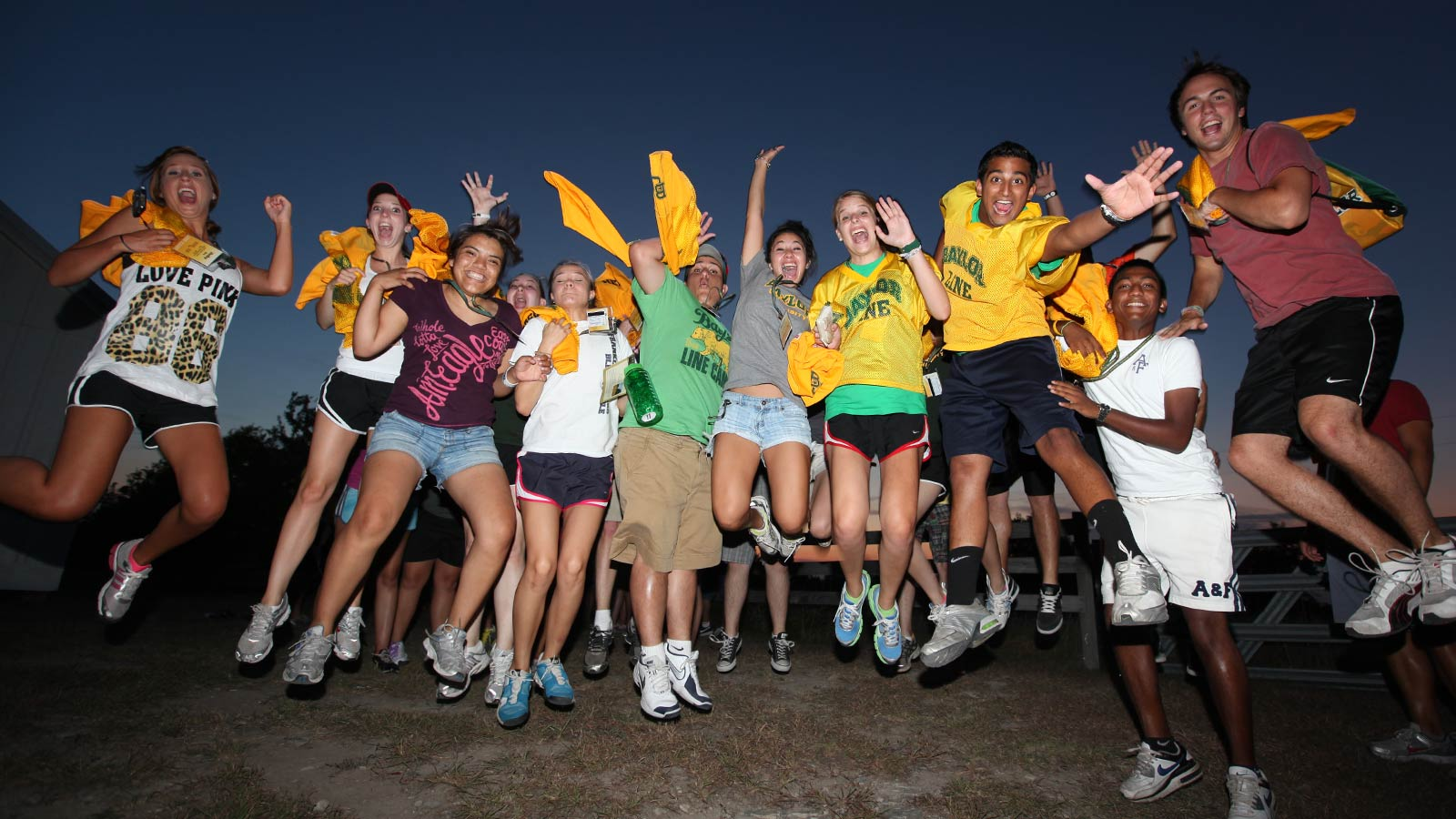 Baylor Line Camp provides incoming students their first high-energy experience and introduction to traditions.