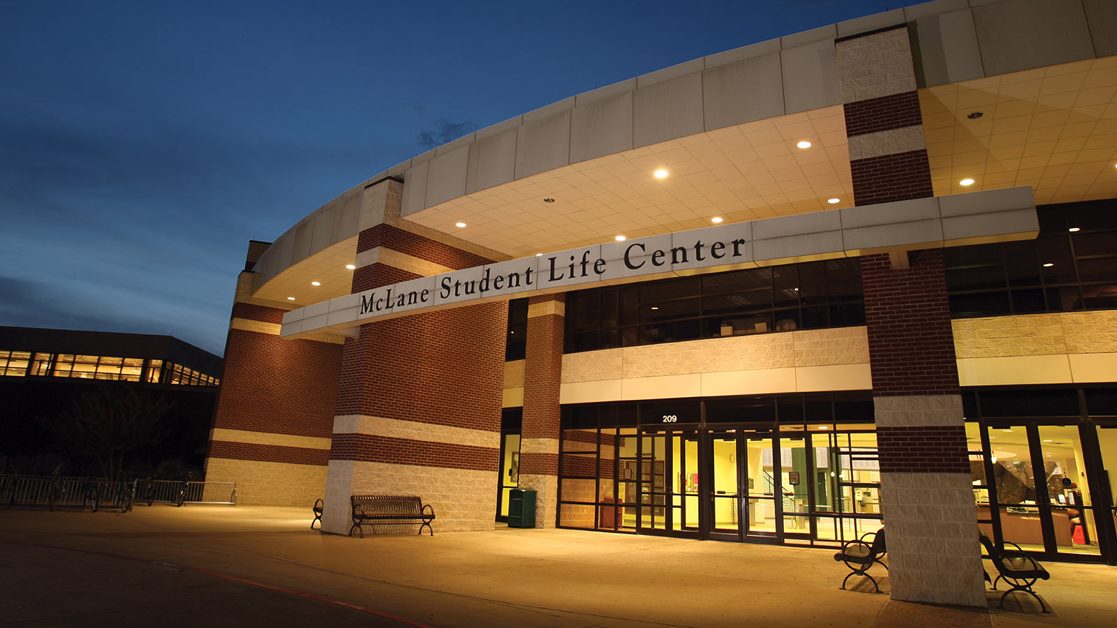 The McLane Student Life Center is the hub of student recreational life at Baylor.