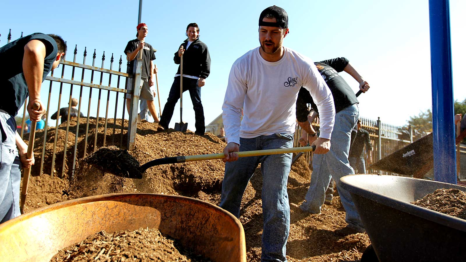 Steppin' Out is a campus-wide day of service to the Waco community.