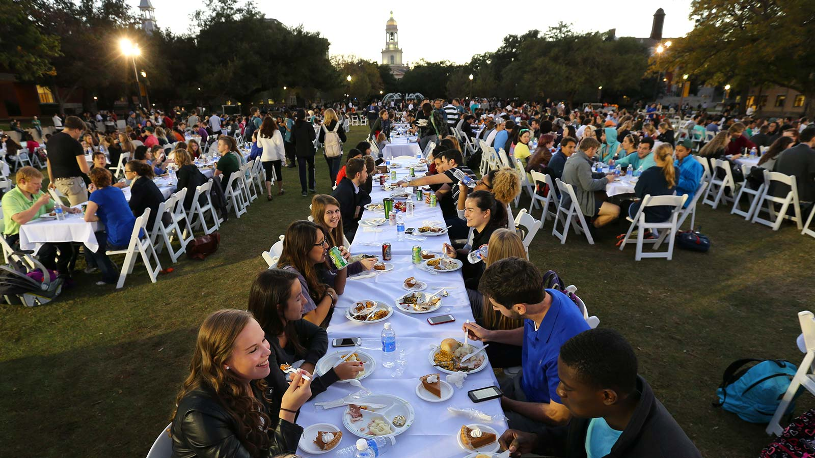 The Baylor community gathers as a family to enjoy some fall festivities and share a Thanksgiving meal.