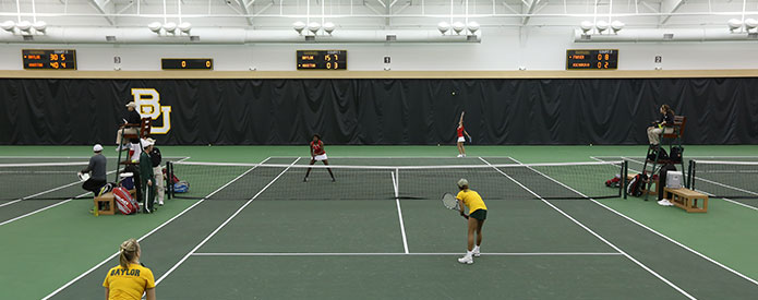 The Hawkins Indoor Center represents the realization of a longtime vision for Baylor Tennis. The state-of-the-art facility allows the men's and women's tennis team to practice and play year-round, regardless of adverse weather conditions.