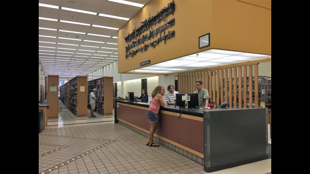 Moody Library circulation desk