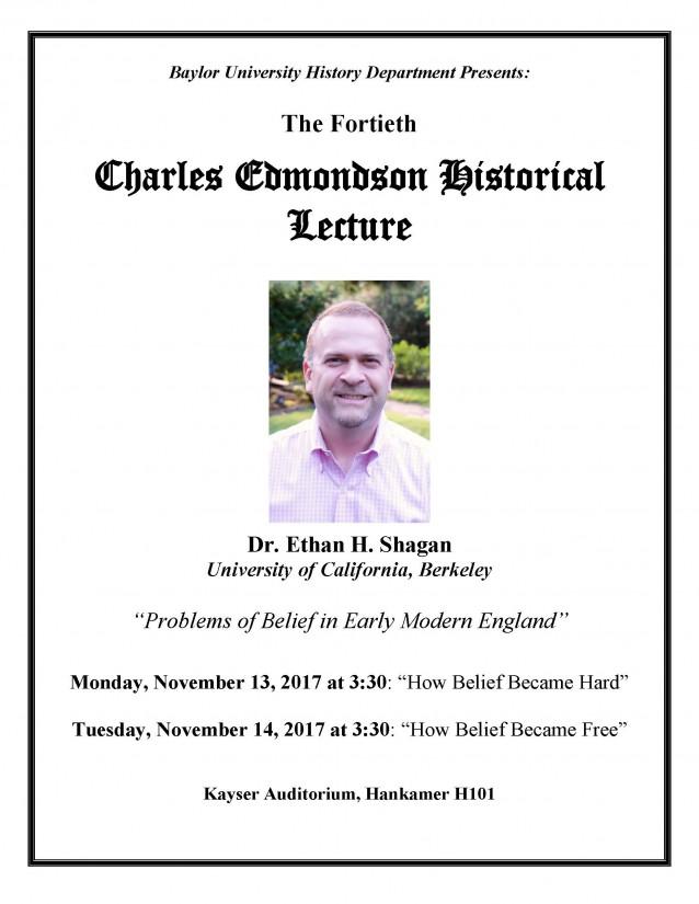 2017 Edmondson Lecture Poster