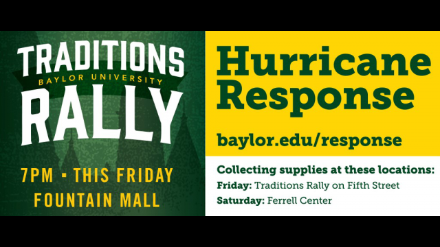 Traditions Rally Hurricane Relief graphic