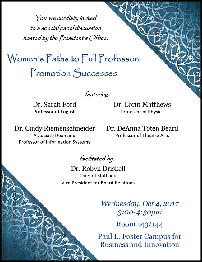 Women's Paths to Full Professor-Promotion Successes