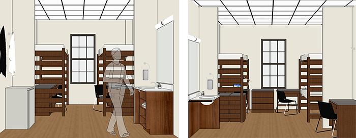 Model Room Impact Living Learning Center Baylor University