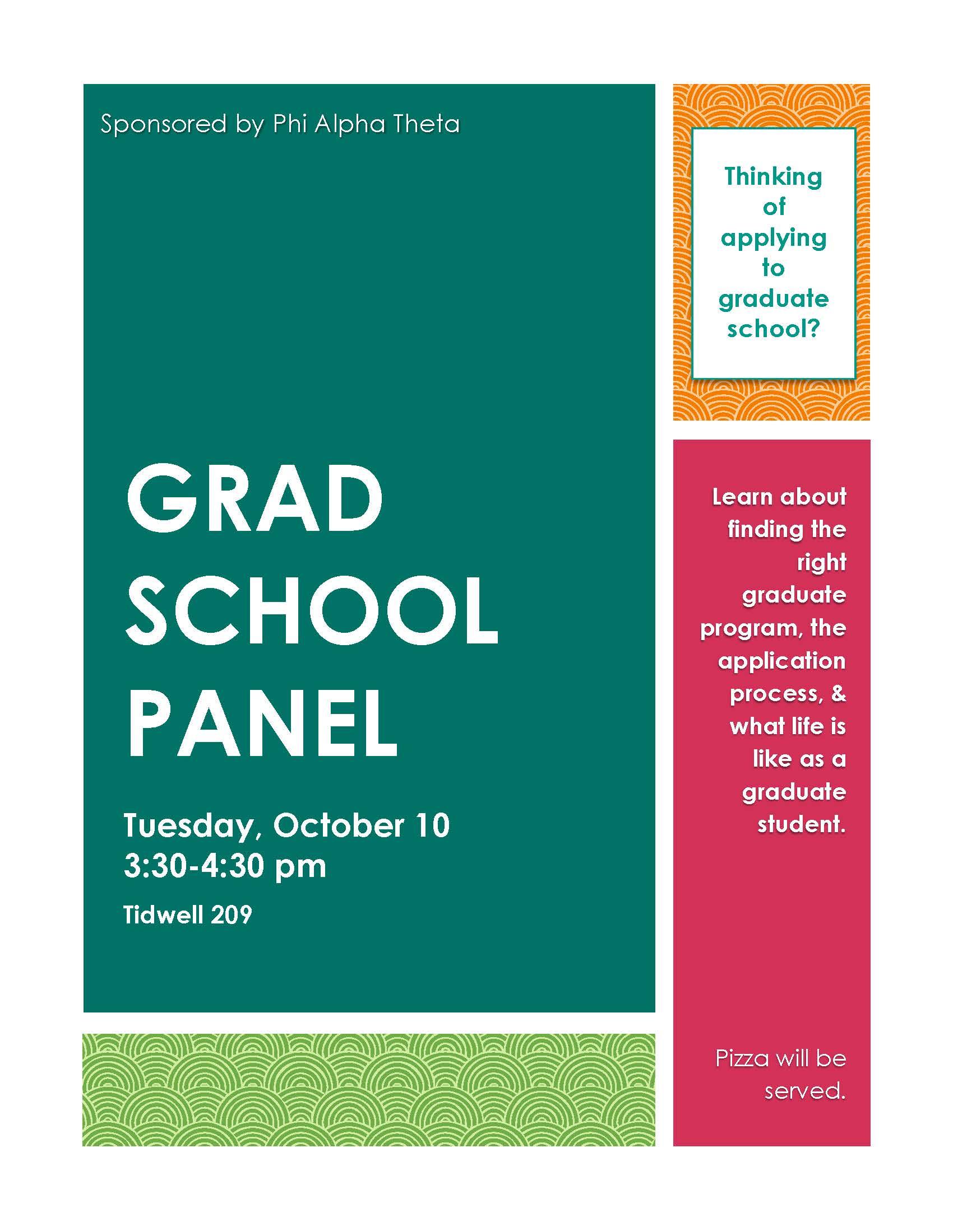 PAT Grad School Panel Fall 2017