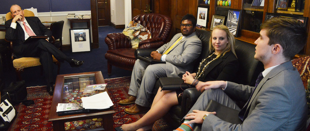students meeting with legislators