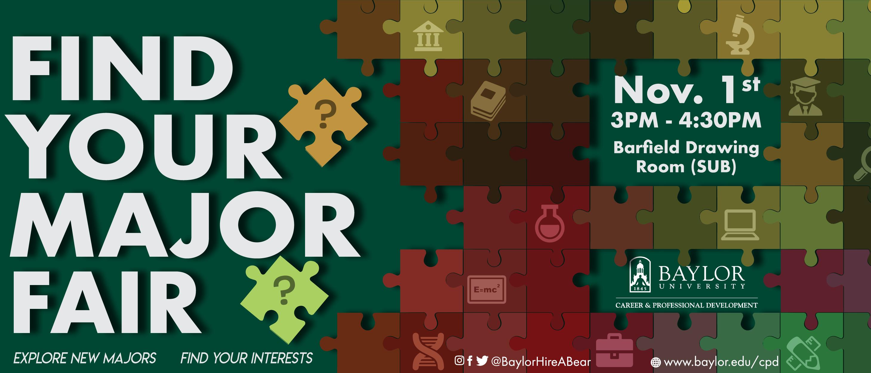 Banner: Find Your Major Fair - Fall 2017