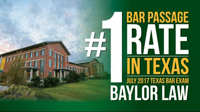 Baylor Law Texas Bar Exam graphic