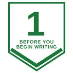 1. Before you Begin Writing