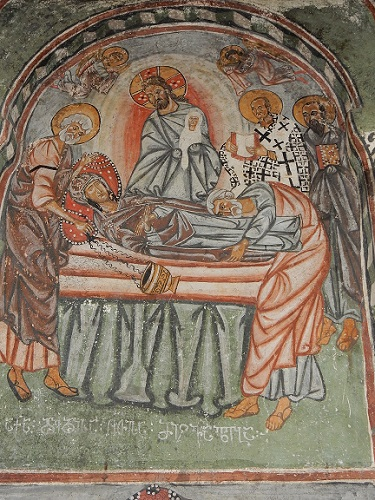 Painting depicting the resurrection of Lazarus