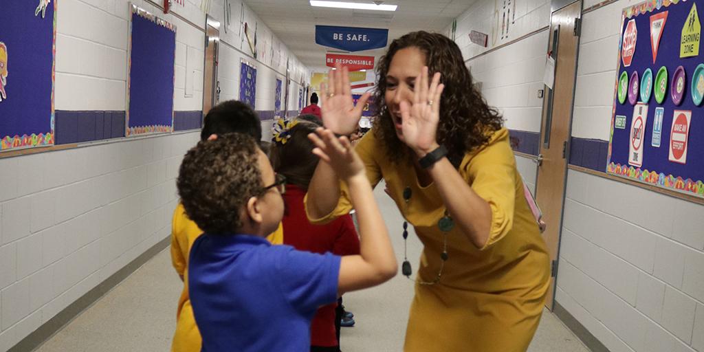 Kristen Padilla-Mainor at Elementary school