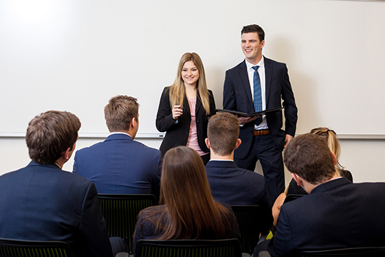 Baylor students in the classroom