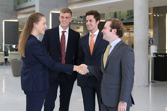 Poised for success, Baylor students shake hands with potential employers