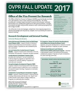 Baylor OVPR Fall Update