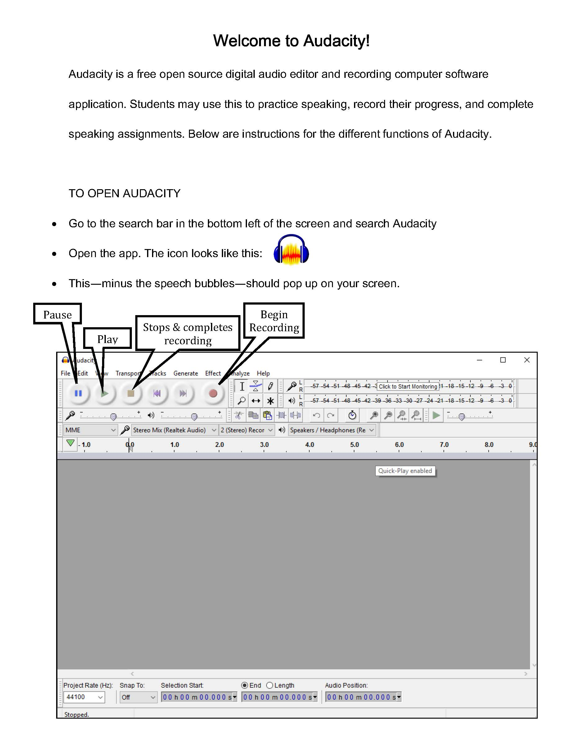 Cheat Sheet for Audacity | Interactive Media & Language Center (iMLC ...