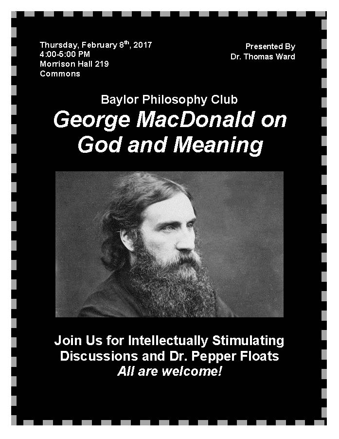 Philosophy Club: Thomas Ward Presentation