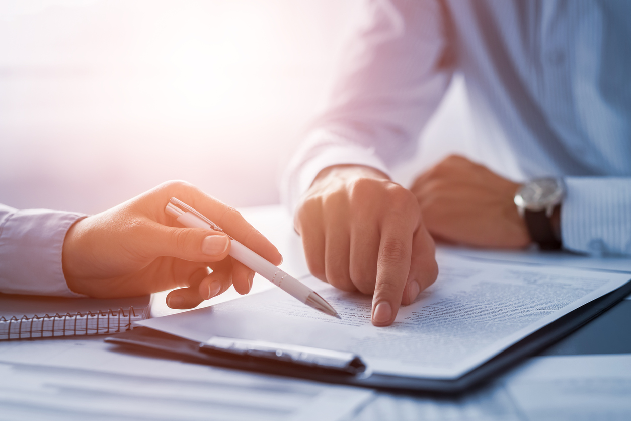 Stock Photo of a pen and paperwork