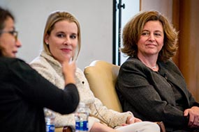 Baylor Law Professor Laura Hernandez is pictured on a panel with other participants