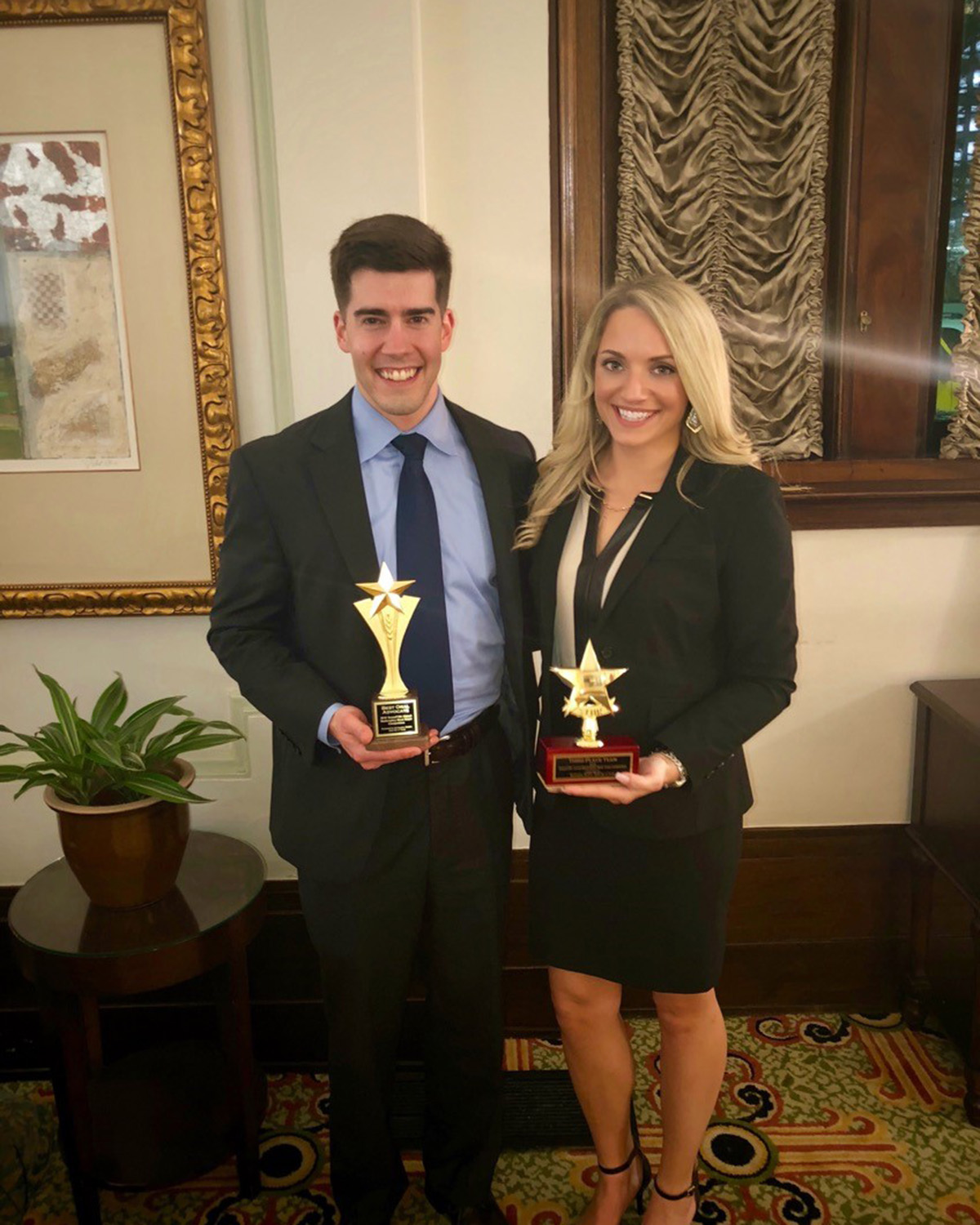 Kevin Miller and Leah Towe in action at bankruptcy moot court