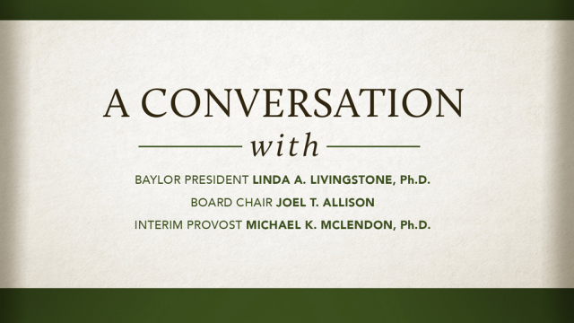 Baylor Conversation graphic
