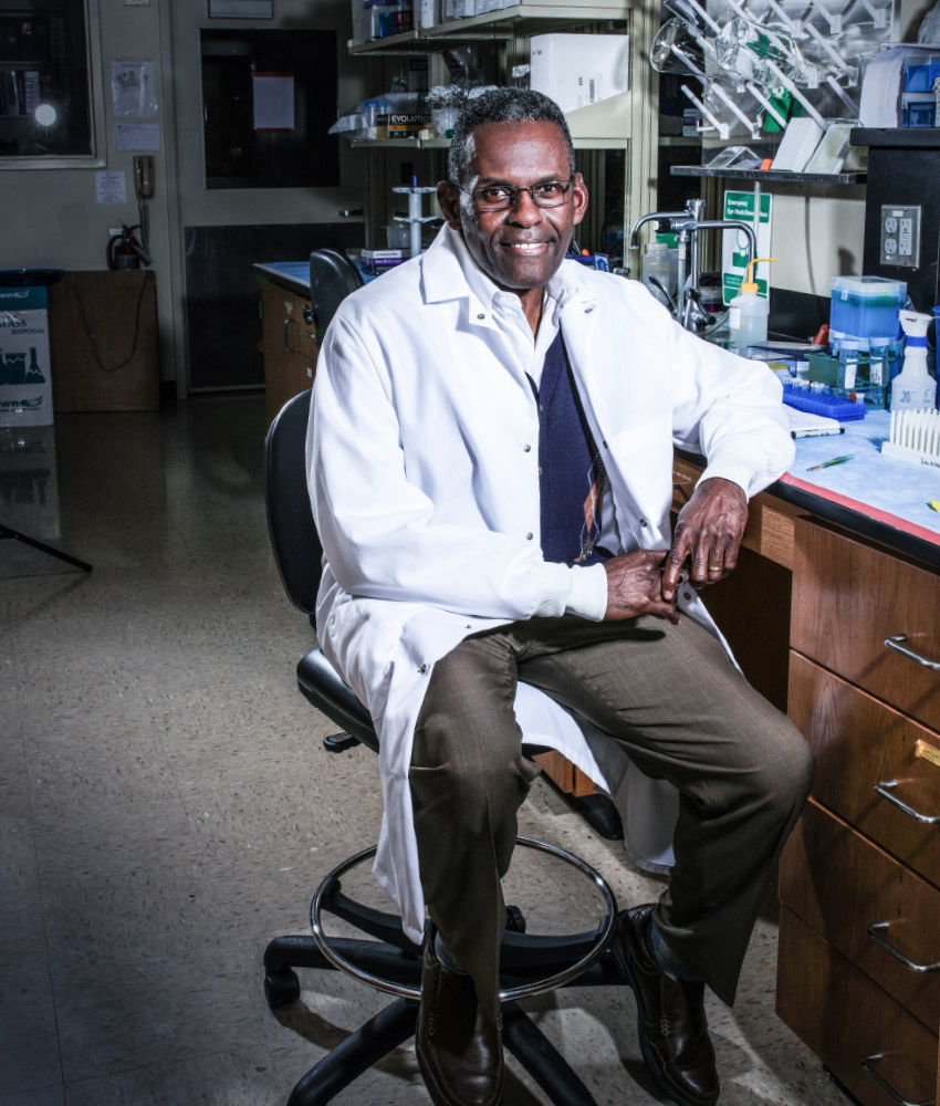 Dr. Dwayne Simmons, The Cornelia Marschall Smith Endowed Professor and chair of the Department of Biology