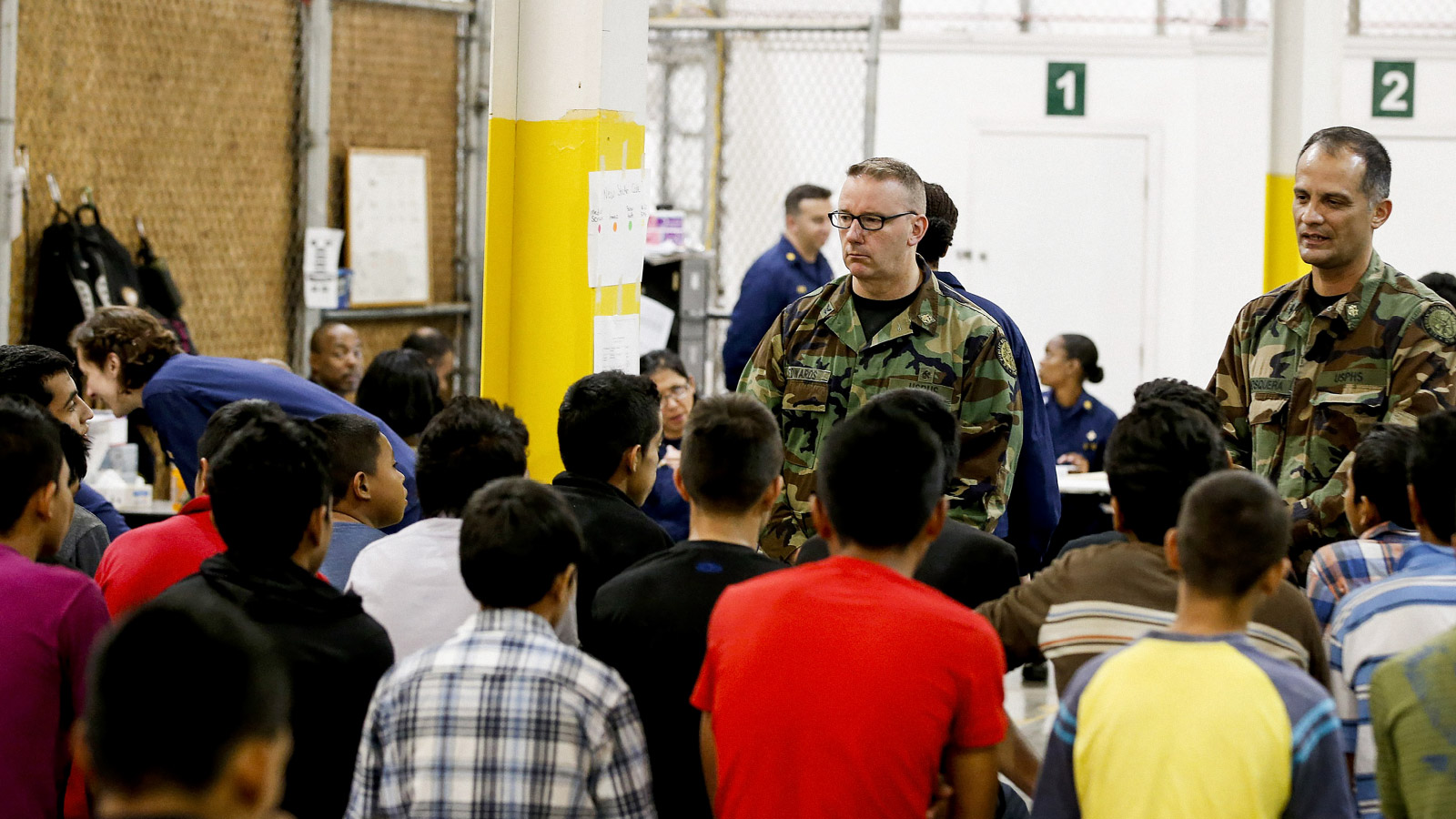 Central American minors are processed and held at the U.S. Customs and Border Protection Center in Nogales, Arizona