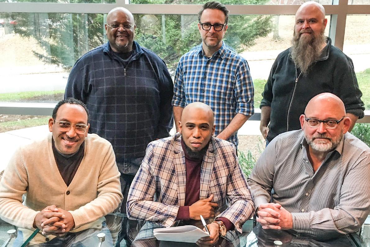 Jeff Moseley signing gospel artist Anthony Brown