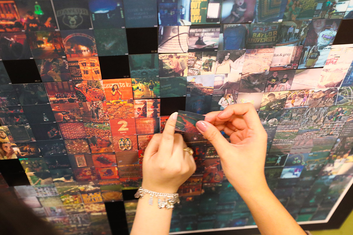 Student images became a mosaic of campus life in the Bill Daniel Student Center