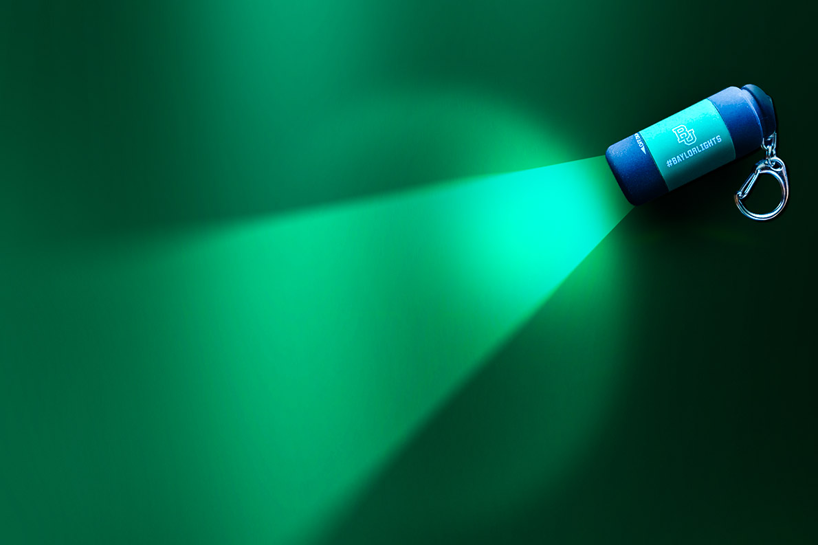 USB-rechargeable flashlights were given to students across campus as a reminder to be a light in the world.