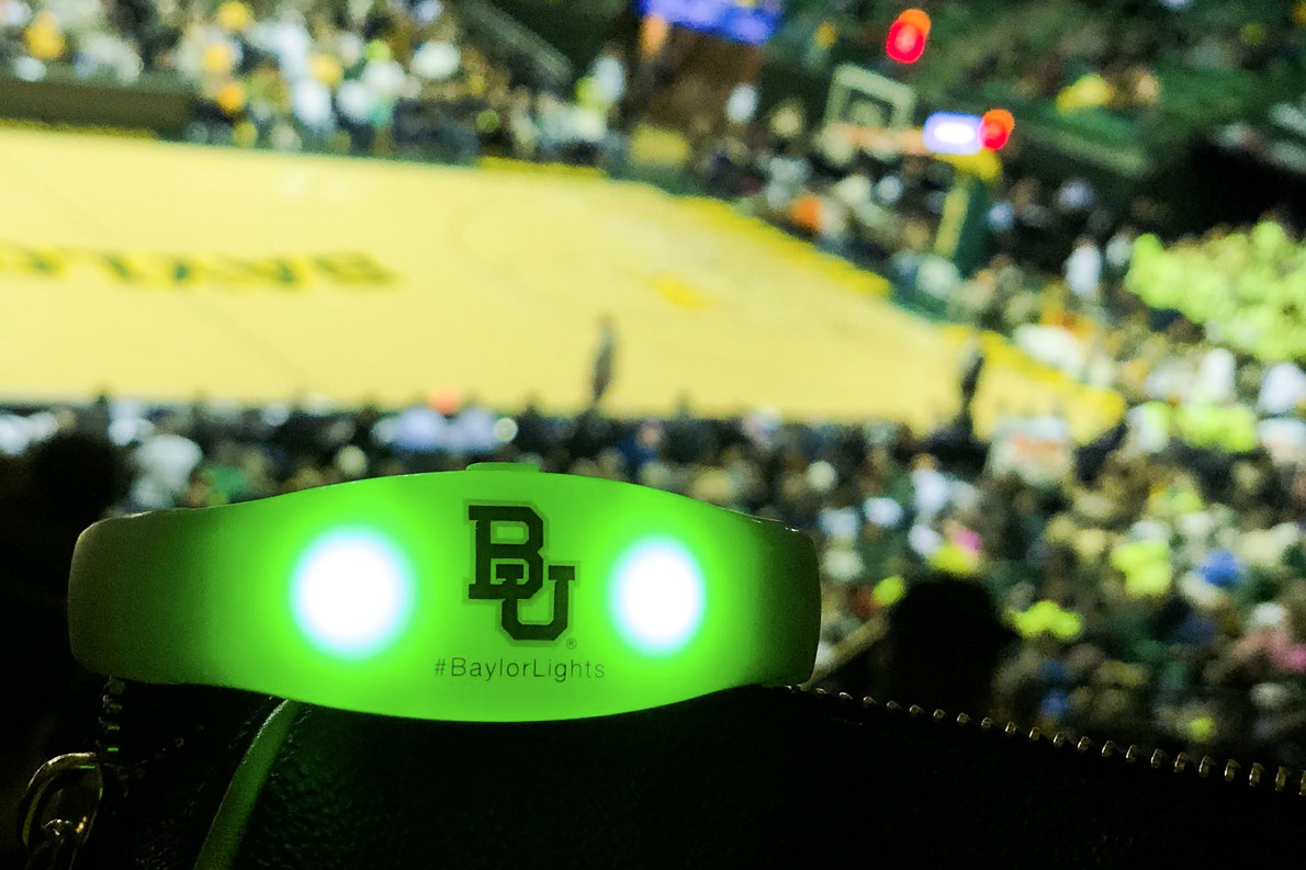 Men's and women's basketball venues provided opportunities to celebrate #BaylorLights.