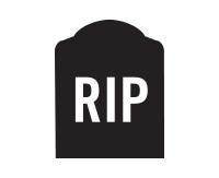 gravemarker reading RIP