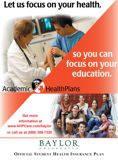 Student Insurance Poster Health Center Baylor University