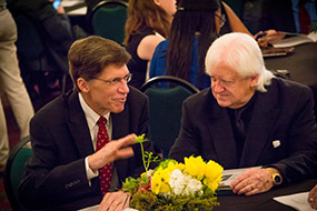 Dean Brad Toben and the distinguished speaker of the Minton Awards