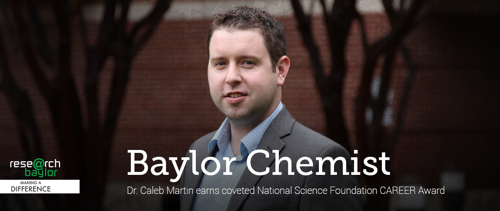 Slider - Dr. Caleb Martin - NSF Career Award