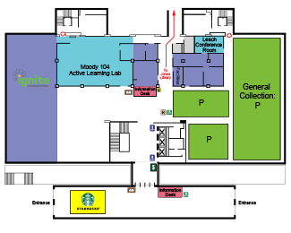 First Floor map of Moody Library